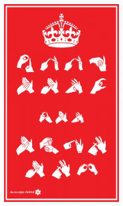 Tea Towel - Keep Calm & Sign BSL